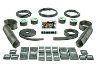 Hotrod Kit Black Carbon Fiber/Kevlar  Includes Upper/Lower Skins & Boa Clamps