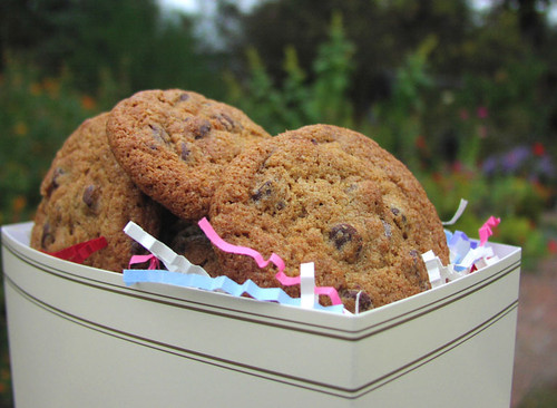A gift basket of gourmet cookies for saying thank you to clients, friends or anyone.