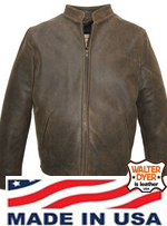 Walter Dyer Mens' 630 Dress Casual Jacket in Distressed Brown