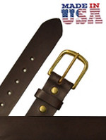 "Heavy Leather Casual Belt 1 3/4"" Brown"