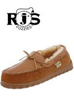 Mens' RJ'S Rainier Sheepskin Moccasin Slipper RJS 208