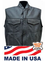 Men's Club Vest with  Collar and Zipper