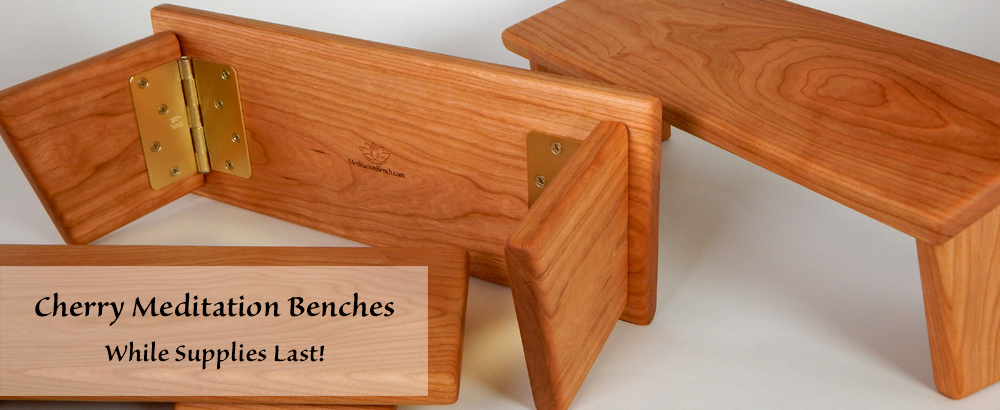 Cherry Meditation Benches