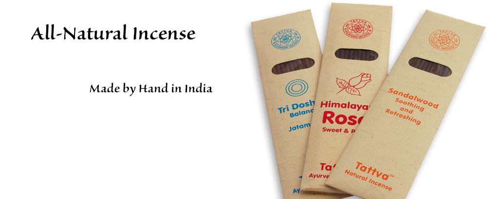 All-Natural Incense. Made by hand in India