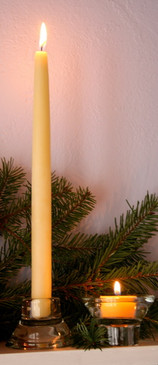 "Beeswax 12"" Taper Candles"