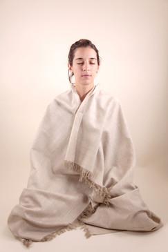 Natural Ahimsa Silk Shawl