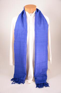 Royal Blue Ahimsa Silk Shawl