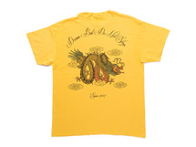Chinese Dragon Design On Gold Short Sleeved T-shirt