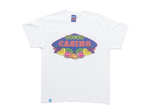 Fruity Casino Slots Design On White Short Sleeved T-shirt