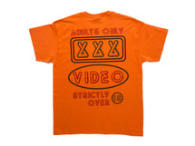 'Adults Only' Design On Orange Short Sleeved T-shirt