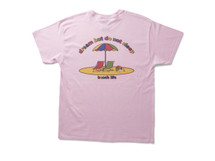 Beach Life Design On Light Pink Short Sleeved T-shirt