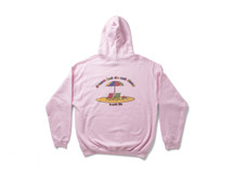 Beach Life Design On Light Pink Hoodie