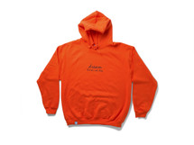 Orange Hoodie With 90's Logo Design