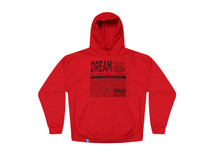 Red Hoodie With Dream Globe Graphic