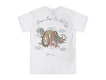 Chinese Dragon Design On White Short Sleeved T-shirt