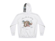 Chinese Dragon Design On White Hoodie
