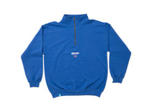 Blue 1/4 zip sweatshirt With Dream Sport Design
