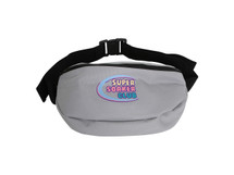 Dream But Do Not Sleep Grey Oversized Bum Bag  Super Soaker Embroidery
