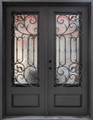 Wrought Iron Door, Doors W/ Iron Works Oper-able Glass Panel FL-IRON8101S