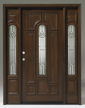 Discount Door Center Prehung and Prefinished Teak Center Arch ...