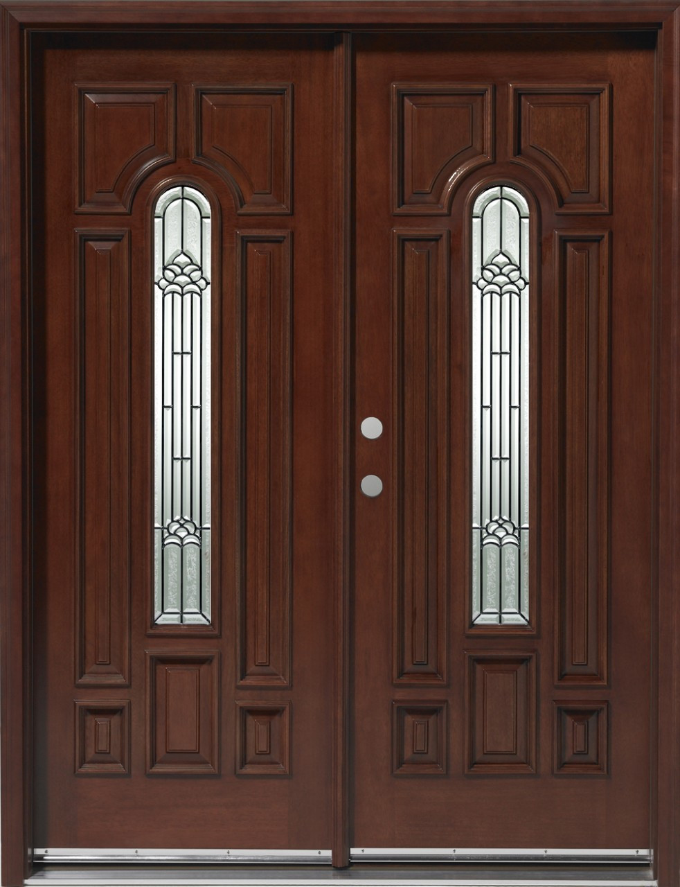 Home entrance door prehung exterior door for Wood entry doors