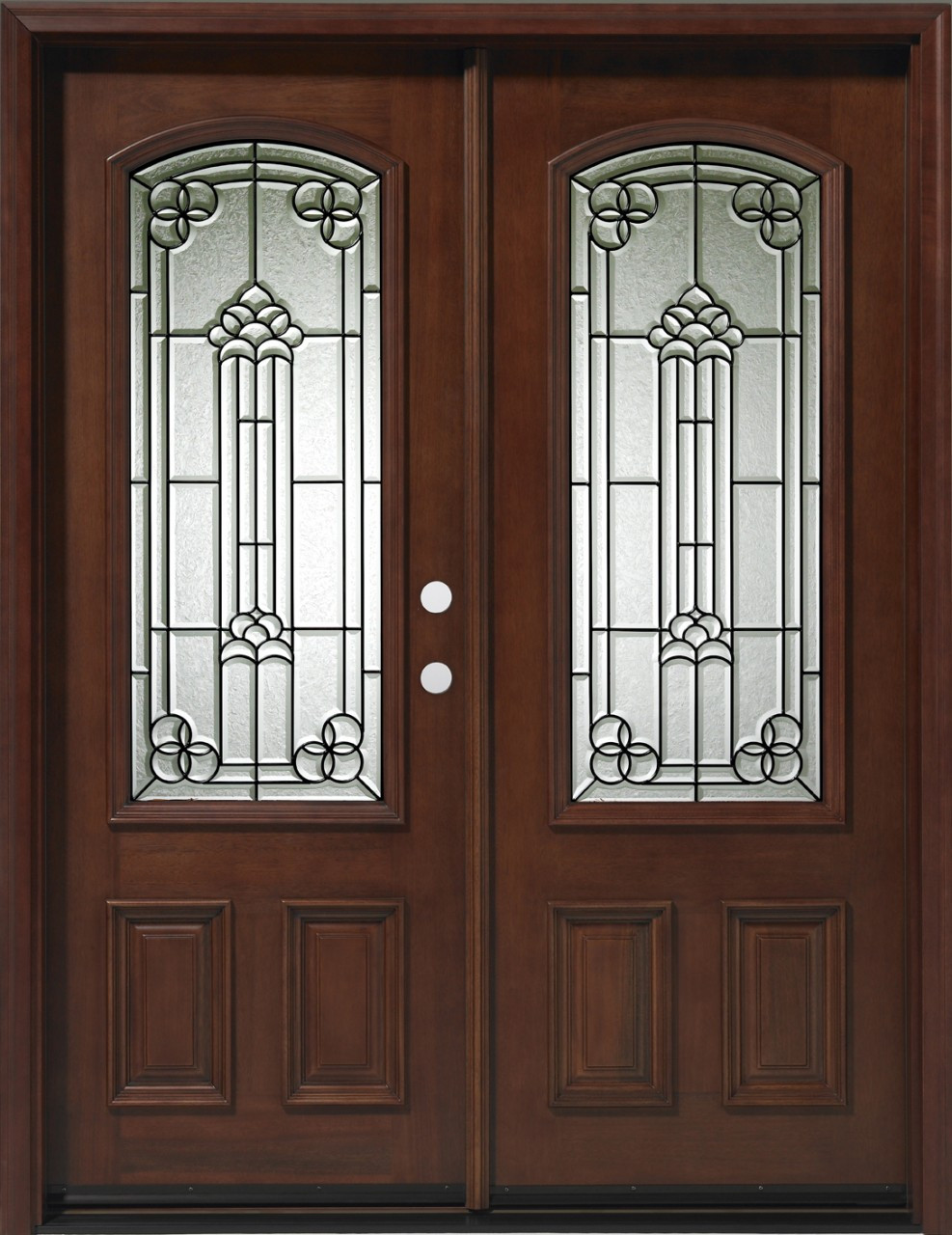 Discount Door Center Prehung And Prefinished 3 4 Lite Arched Double Entry Door