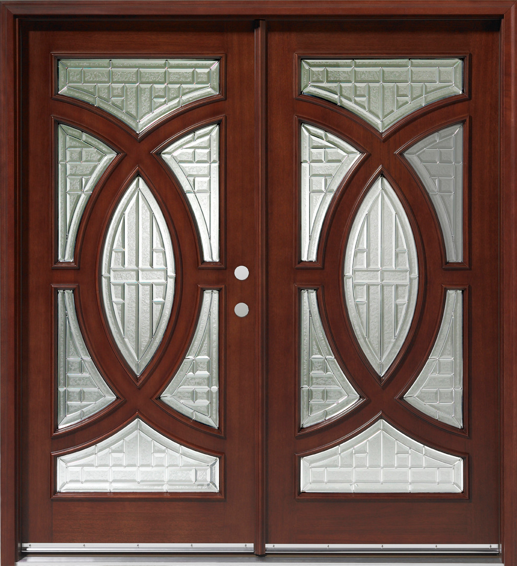 1148 #5C382D  Door Center Prehung And Prefinished Circular Deluxe Double Entry Door wallpaper Prehung Entry Doors 43251049