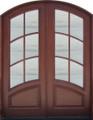 Soldi Mahogany 8ft  6 Lite Arched Double Door, 6/0 X 8/0