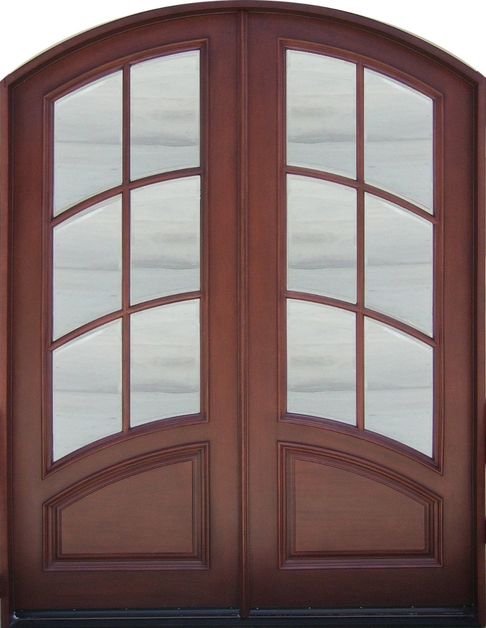 Discount Door Center Prehung And Prefinished Arched French Double Entry Door