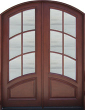 Discount door center prehung and prefinished arched french for French doors exterior cheap
