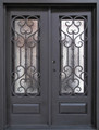 Wrought Iron Door, Doors W/ Iron Works Oper-able Glass Panel FL-IRON7101S