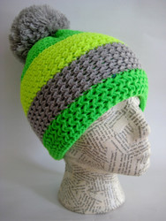 Fluorescent winter ski hat