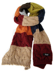Knitted wool scarf for men and women