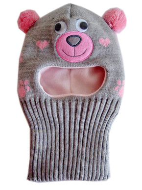 Animal balaclava hat for girls