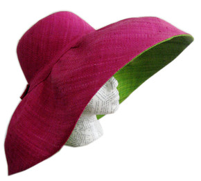 Raffia sun hat for women
