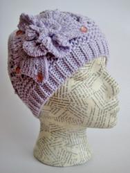 Spring crochet beanie
