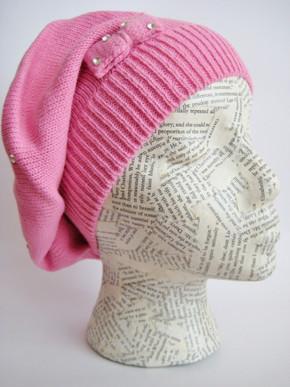 Spring Beret Knitting Pattern : Girls Teen Beret Spring Beret Hat Knit Beret Winter Beret