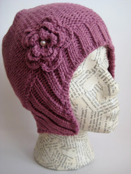 Aviator beanie hat for women and girls