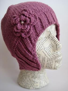 Aviator beanie hat for women and girls