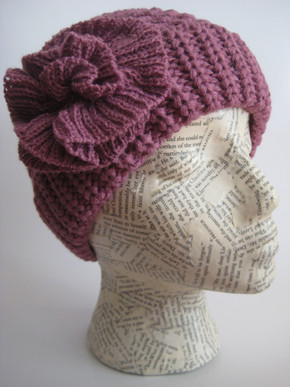 Thick knit winter hat