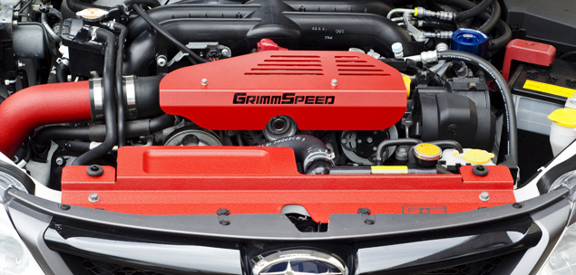GrimmSpeed Subaru Alternator Cover - Formed Tool Tray