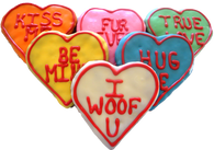 Large  Conversational Hearts (Case of 18 treats)