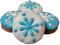 Snowflake Circle Cookies (Case Of 18 treats)