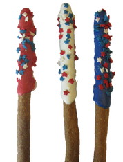 Patriotic Wag Sticks (Case of 18 treats) NEW!!!