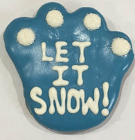 """Let It Snow"" Large Paw (Case Of 18 treats) NEW!!!"