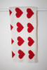 Eco Heart Baby Blanket Cream/Red