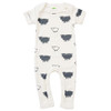 Organic Short Sleeve Romper, Sheep