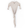 Newborn Knotted Gown & Hat Set, Oatmeal Stripe