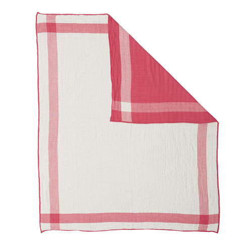 Quilted Muslin Blanket, Fuchsia