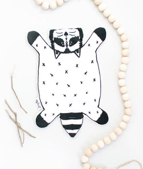 Burp Cloth, Rocco the Raccoon